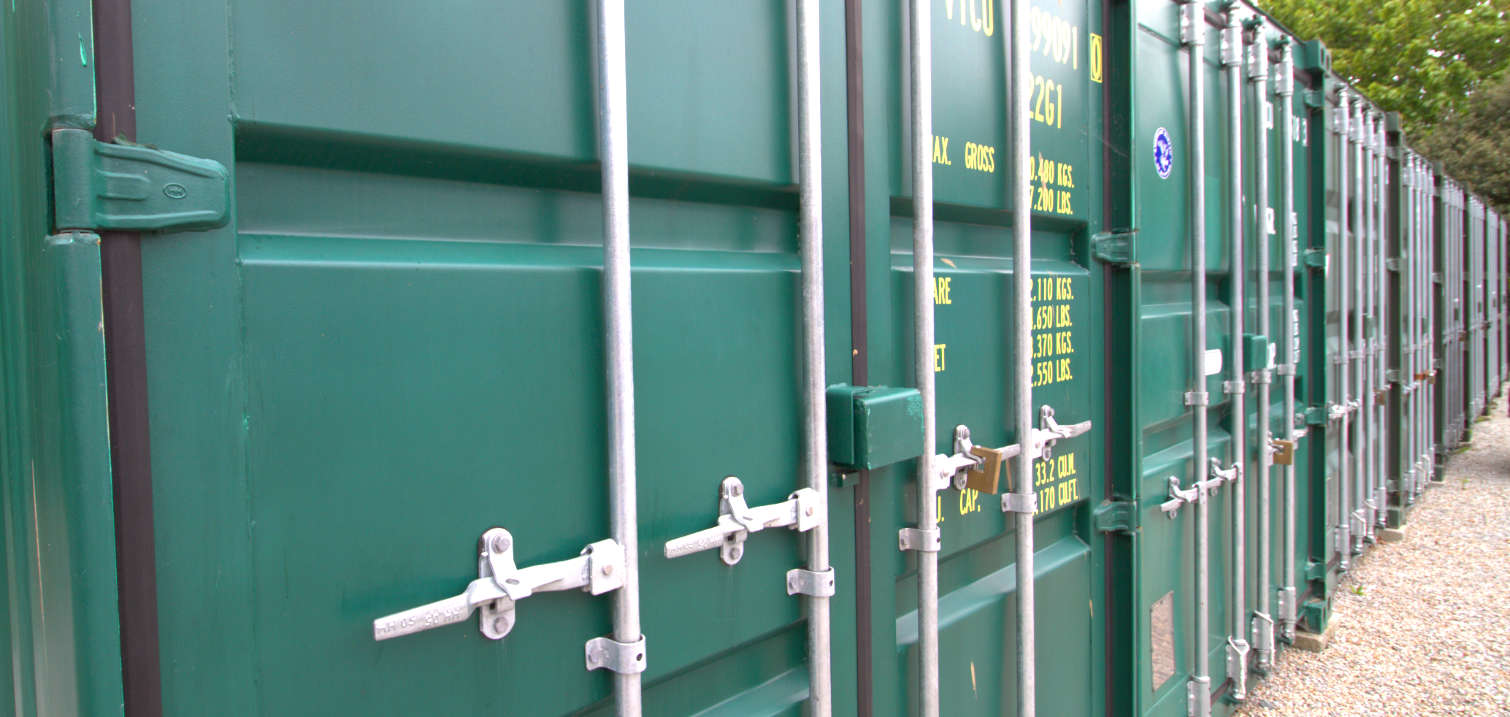 self stroage containers green